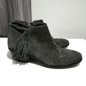 Sam Edelman | New Gray Suede Paige Ankle Booties